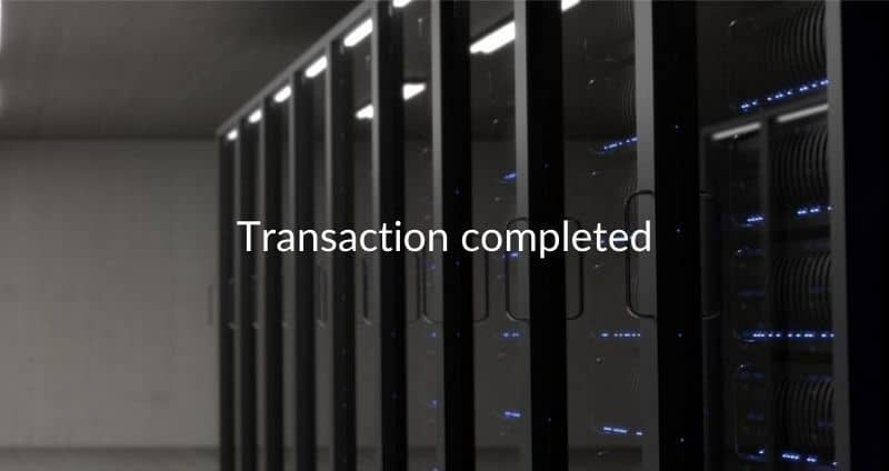 small data cetner for sales - Transaction completed 2017